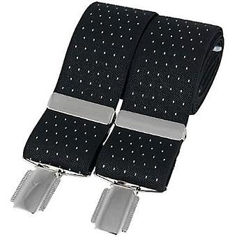 David Van Hagen Classic Pin Dot Fashion Brace - White/Black