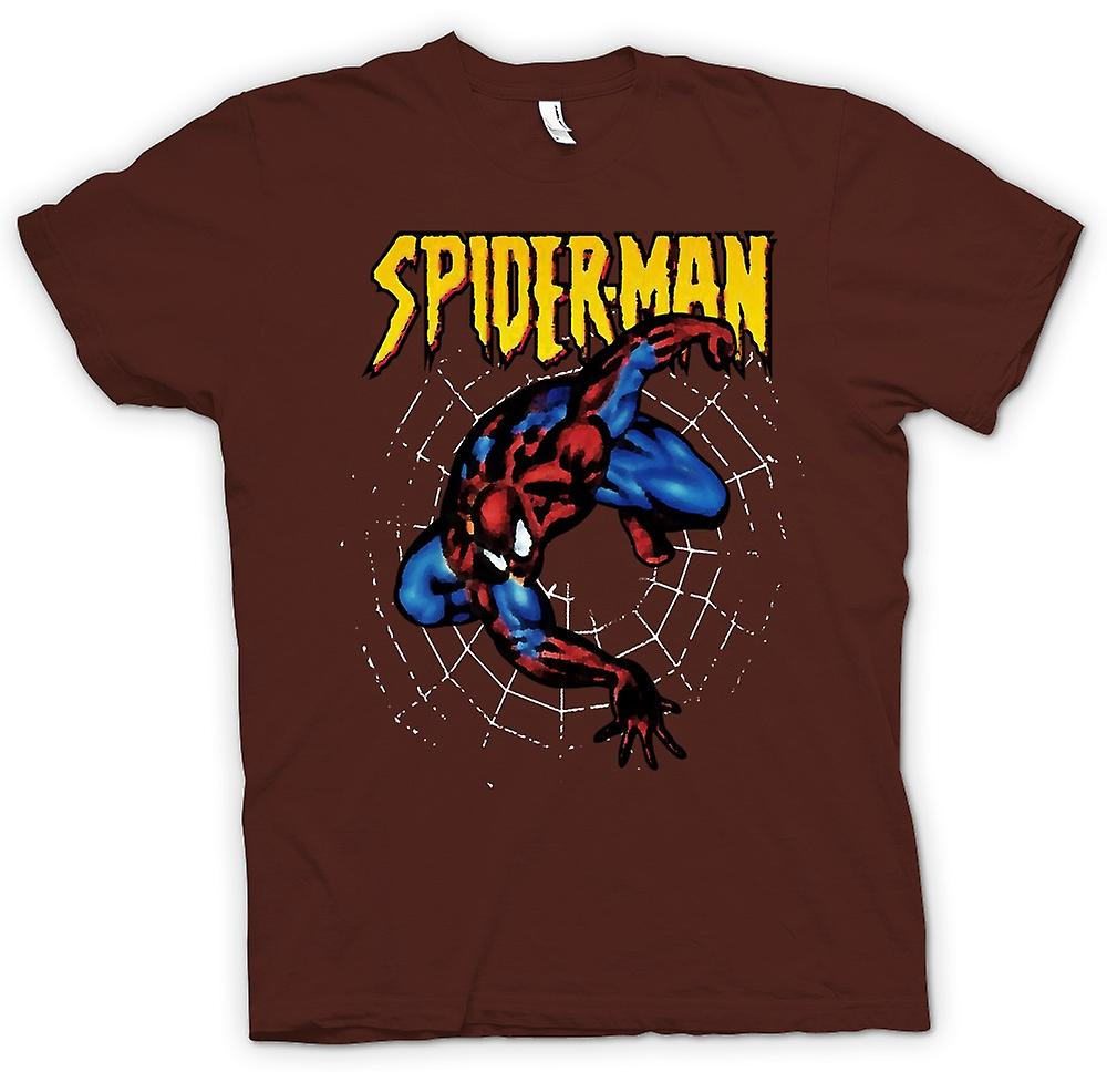 Herr T-shirt - Superman - Spiderman - Pop Art - komisk hjälte