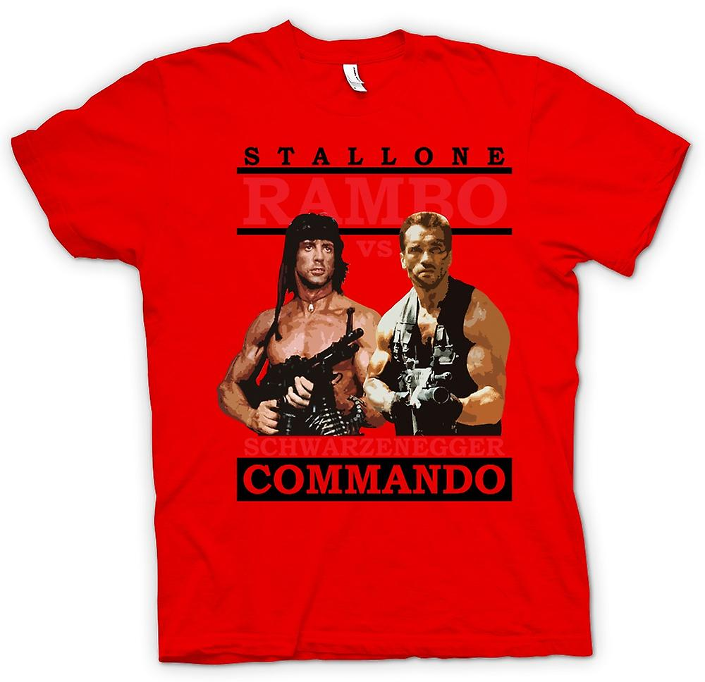 Hommes T-shirt - Rambo Ou Commando - Action - Hero