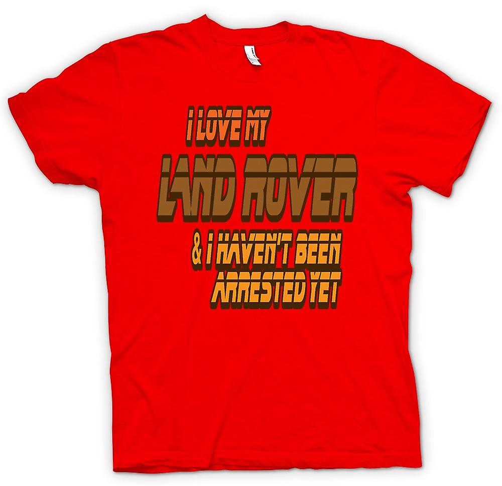 Mens T-shirt - I Love My Landrover