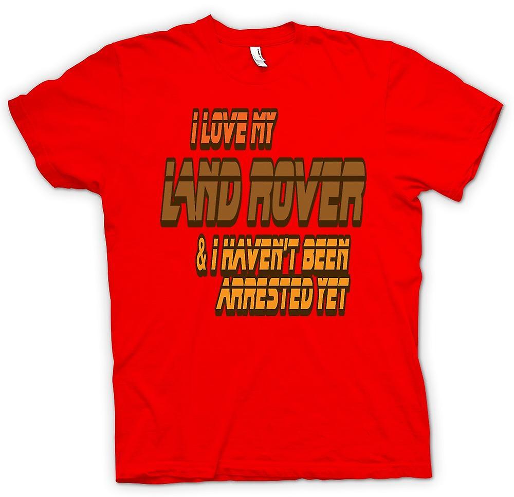 Camiseta para hombre - me encanta mi Land Rover
