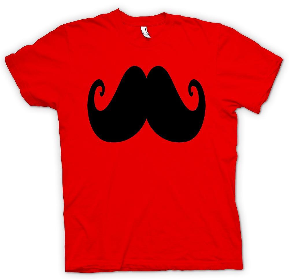 Mens T-shirt - Schnurrbart auf einem Shirt - lustige Gesichtsbehaarung