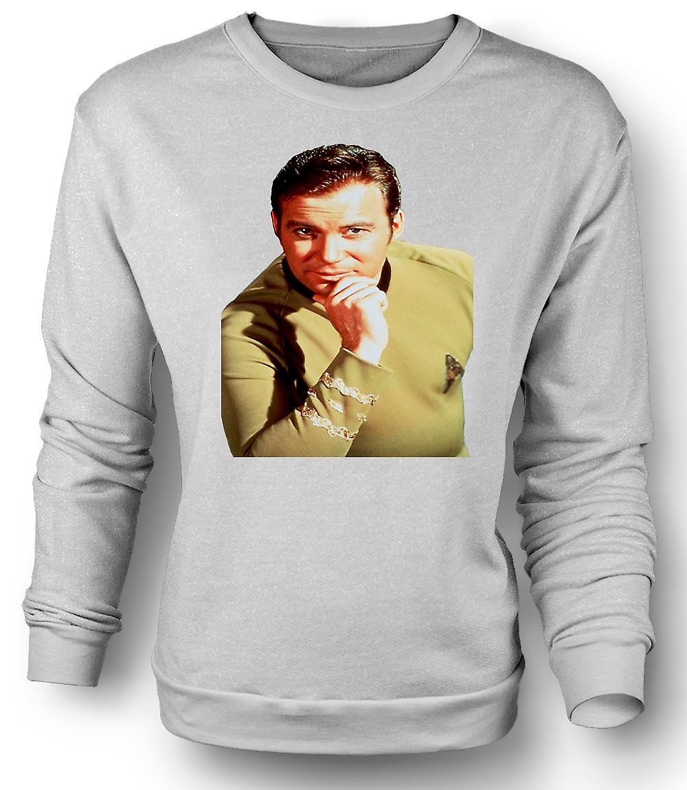 Mens Sweatshirt kapten Kirk - Star Trek