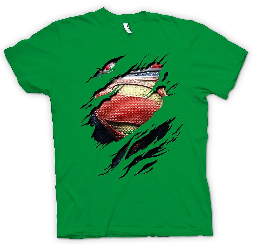 Mens t-shirt - nuovo Super uomo Costume - supereroe strappato Design