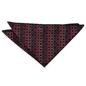 Negro, rojo y bronce en forma de panal Polka Dot Plaza de bolsillo