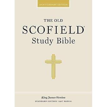 Stary Scofield Studia biblijne, wydanie specjalnego czytnika: King James Version (KJV), czarny skórzany indeksowane
