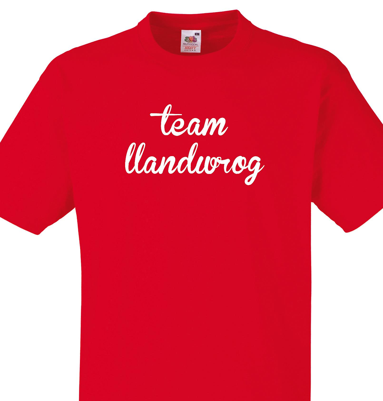 Team Llandwrog Red T shirt