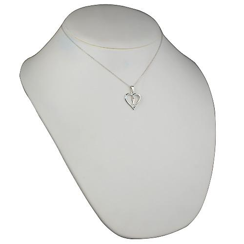 Silver 18x18mm initial X in a heart Pendant with a rolo Chain 16 inches Only Suitable for Children