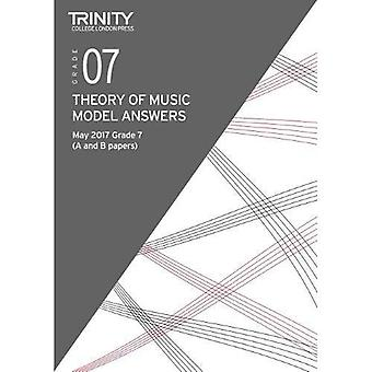 Trinity College London: Theory Model Answers (May 2017) Grade 7