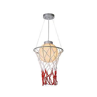 Lucide Basketball leichten Retro Runde Metall grau Pendelleuchte