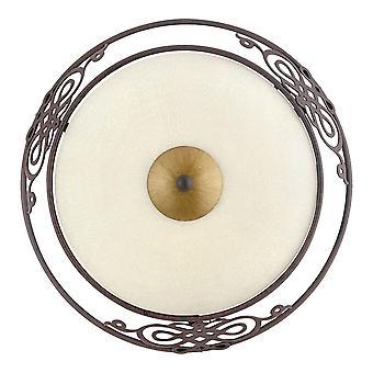 Eglo - Mestre antica parete d'acciaio rotondo marrone chiaro EG86711