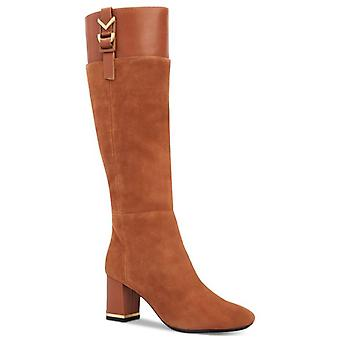 Calvin Klein Womens Candace Leather Closed Toe Knee High Fashion Boots
