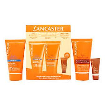 Lancaster Sun Care Gift Set 50ml Velvet Body Milk SPF30 + 50ml  After Sun Tan Maximizer + 3ml Face Bronzer SPF15 + 50ml Pre Tan Exfoliator + 30ml Sun Beauty Velvet Cream SPF30