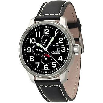 Zeno-watch mens watch OS puissance pilote réserve double fuseau, 8055-a1
