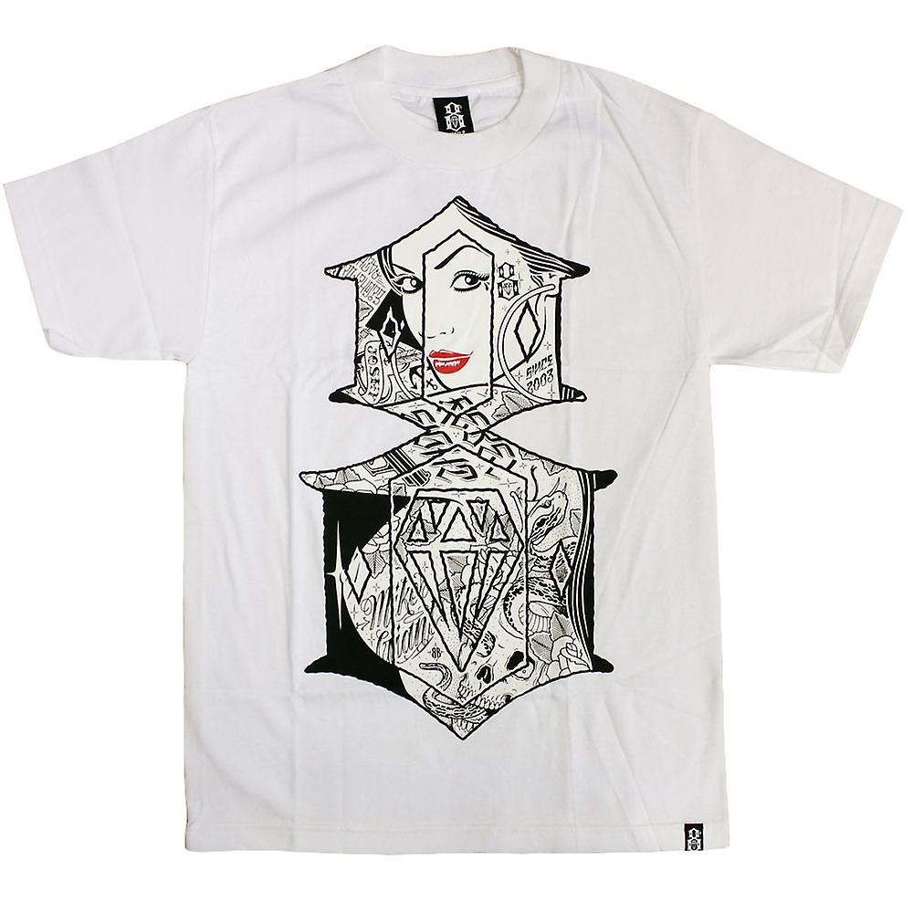Rebel8 Looking Glass T-shirt wit