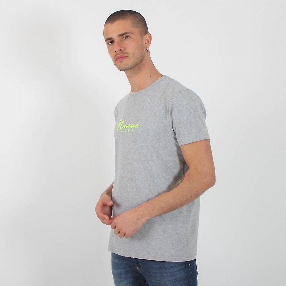 Nuevo Club Core Signature T-shirt - Grey / Fluorescent