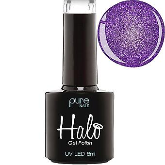 Halo Gel Nails LED/UV Halo Gel Polish Collection - Purple Sparkle 8ml (N2842)