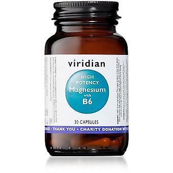 Viridian High Potency Magnesium with B6 Vegicaps 30 (328)