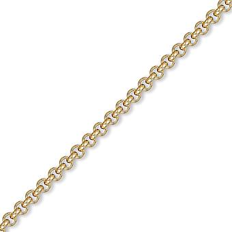 Jewelco London Men's Solid 9ct Yellow Gold Round Belcher 4.8mm Gauge Chain Necklace Jewelco London Men's Solid 9ct Yellow Gold Round Belcher 4.8mm Gauge Chain Necklace Jewelco London