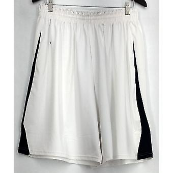 Team Holloway Plus Shorts (XXL) Drawstring Waist Color Blocked White