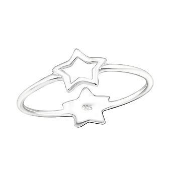 Double Star - 925 Sterling Sølv Plain ringe - W24613X