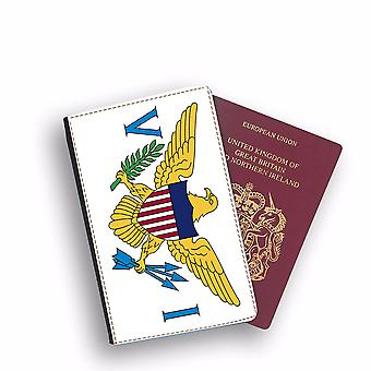 VIRGIN ISLANDS OF THE UNITED STATES Flag Passport Holder Style Case Cover Protective Wallet Flags design