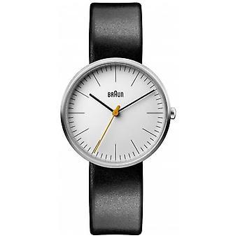 Braun kvinner ' s klassisk hvit urskive svart skinn stropp BN0173WHBKL klokke