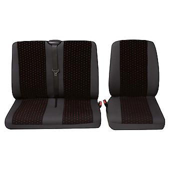 Commercial single and double van seat Covers For Renault MASTER Bus 2011-2018