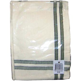 Cream Towel with Sage & Black Stripes 20