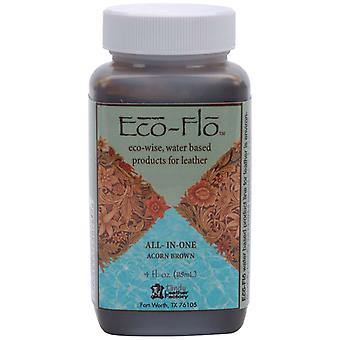 Eco Flo All In One Stain & Finish 4 Ounces Acorn Brown 2605 03