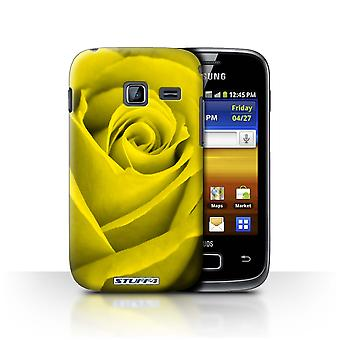 STUFF4 Case/Cover for Samsung Galaxy Y Duos/S6102/Yellow/Rose