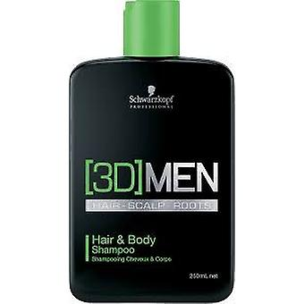 Schwarzkopf Professional Hair & Body Shampoo 3Dmen (Man , Hair Care , Shampoos)