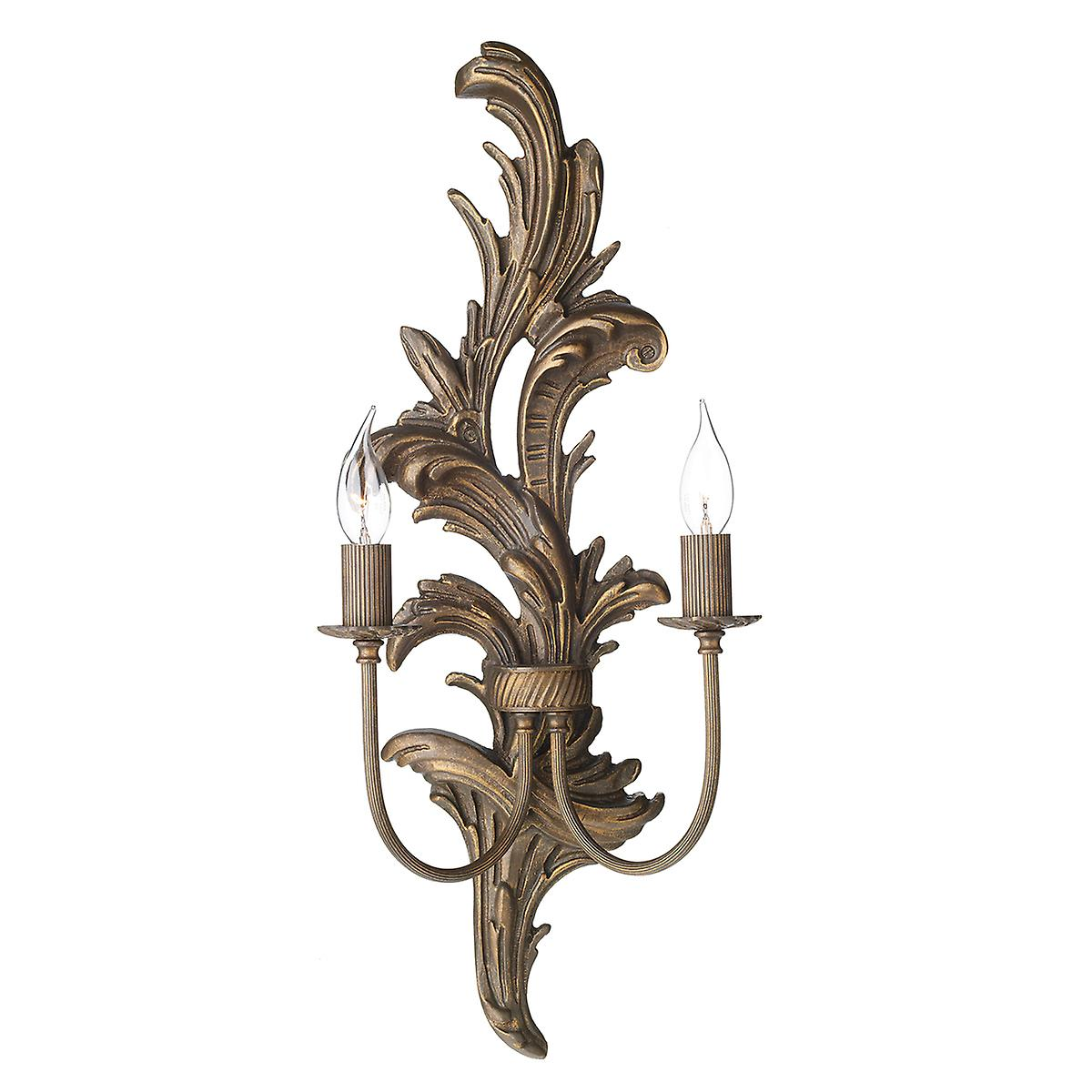 David Hunt NAP0929L Napoleon Large Double Wall Light With A Burnt Gold Finish