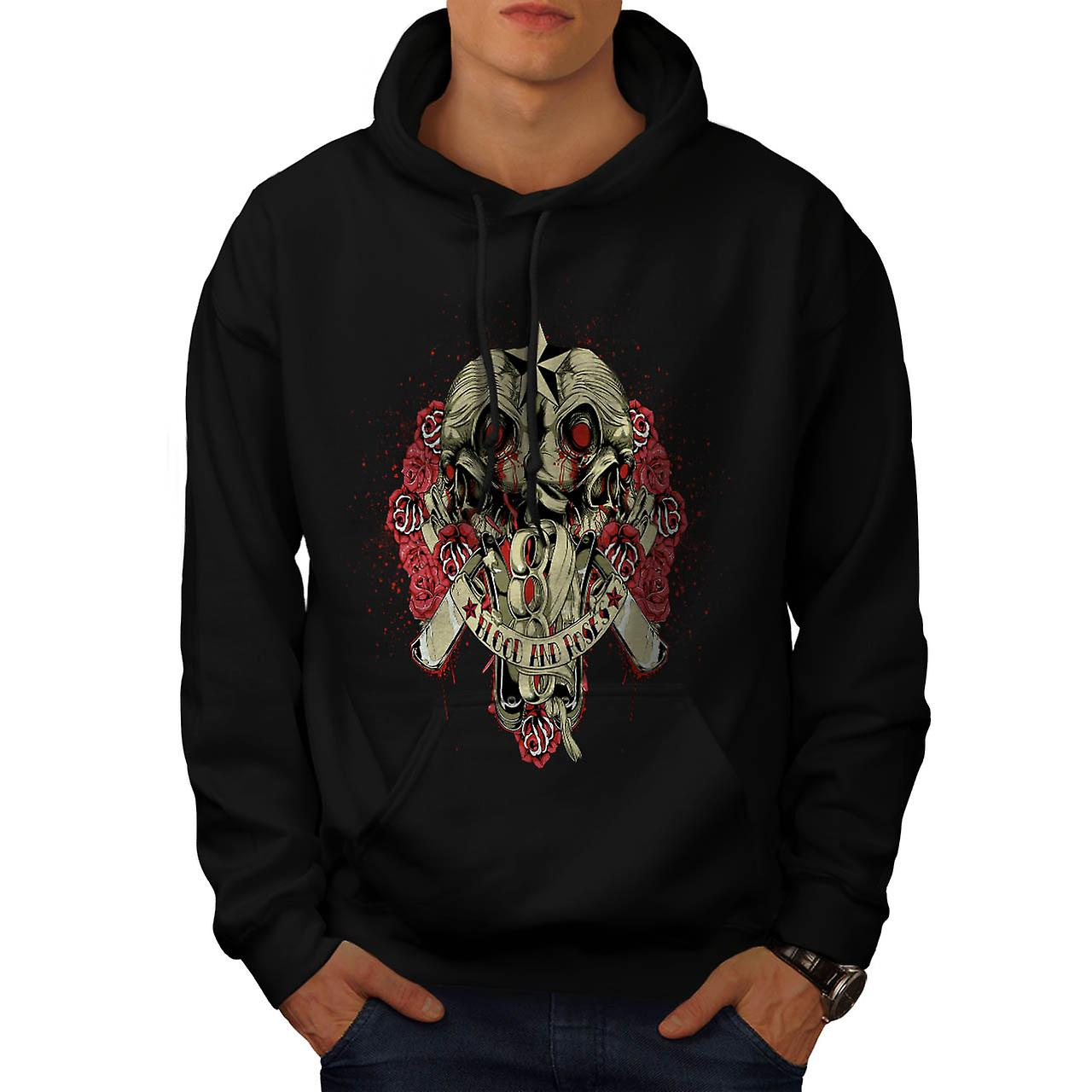 Blood And Roses Fear Flower Love Men Black Hoodie | Wellcoda