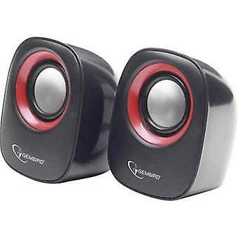 2.0 PC speaker Corded Gembird 6 W Black/red