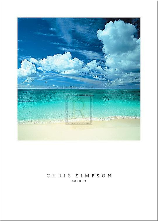 Azure I Poster Print by Chris Simpson (20 x 27)