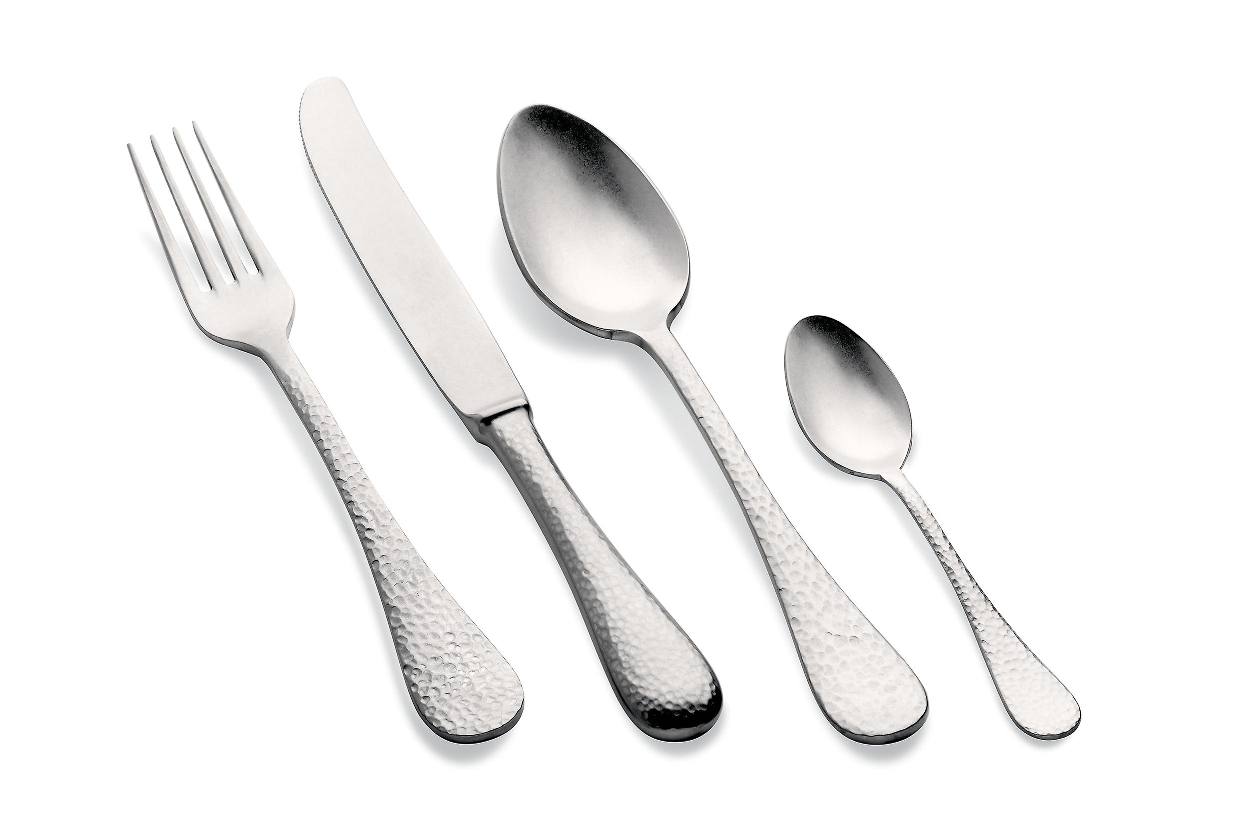 Mepra Epoque Pewter 4 pcs flatware set