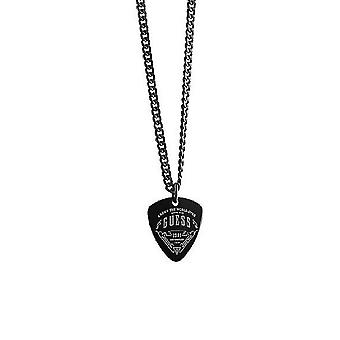 Guess men's chain necklace stainless steel black UMN21503