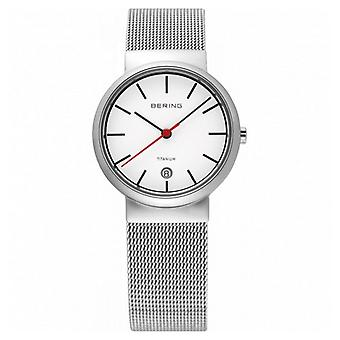 Bering mens watch wristwatch slim classic - 11036-000 Meshband