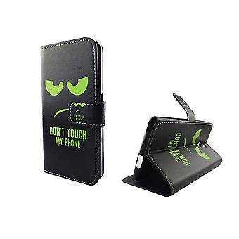 Mobile phone case pouch for mobile WIKO Robby dont touch my phone Green