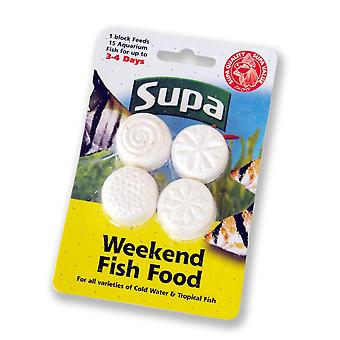 Supa Aquarium Weekend Fish Food 4x6g (Pack of 12)
