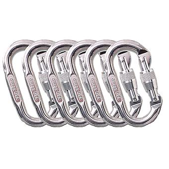 Omega Pacific Standard Oval Screw-Lok Carabiner 6 Pack