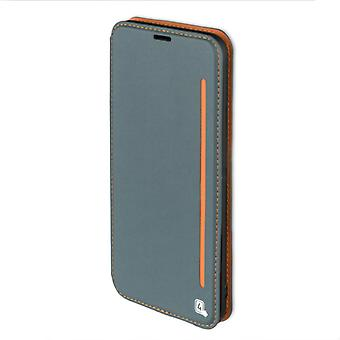 Flip case for Samsung Galaxy S8 G950 G950F sleeve case pouch blaugrau orange