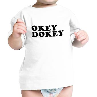 Okey Dokey White Infant Tee Unique Design Gift Idea For Baby Shower