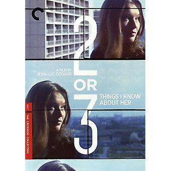 Twee of drie dingen I Know [DVD] USA importeren