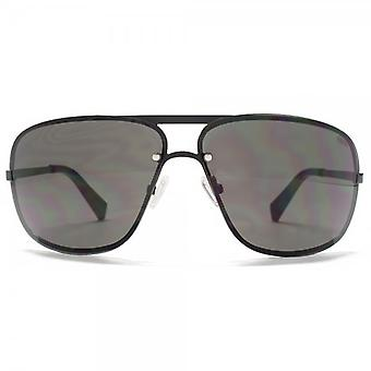 SUUNA Lisbon Overlaid Aviator Sunglasses In Matte Black