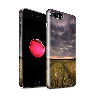 STUFF4 Gloss Hard Back Snap-On Phone Case for Apple iPhone 7 Plus / Sunset Fields Design / English Gardens Collection