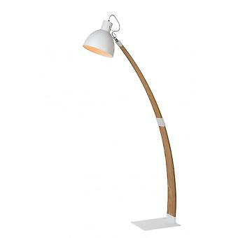 Lucide CURF Floorlamp E27/60W Plywood-Metal White