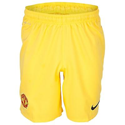 2013-14 Man Utd Accueil Nike Short de gardien de but (Jaune) - Enfants