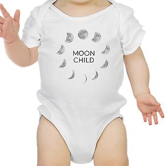 Moon Child White Baby Bodysuit Cute Graphic Baby Bodysuit Baby Gifts
